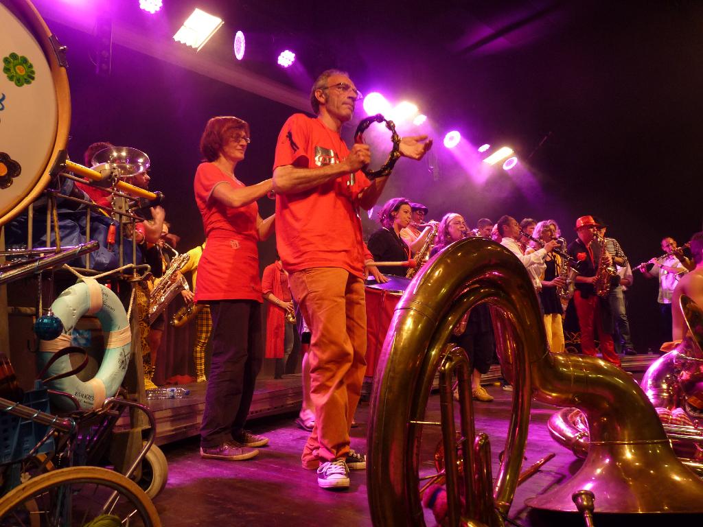 Les fanfares sur scène - Festival Les vents dominants, L\'Hermitage, mai 2014